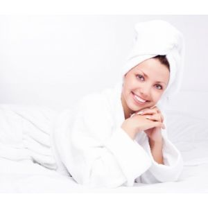 THE TLC TOWELLING BATHROBE - pure cotton, heavyweight, generous fit, snow white.