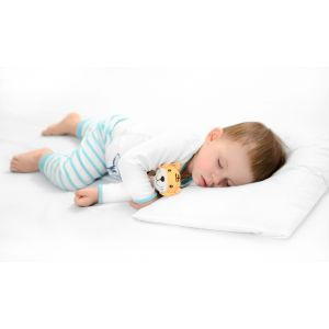 THE TODDLER PILLOW - childs first pillow, low profile, height adjustable with all natural latex insert